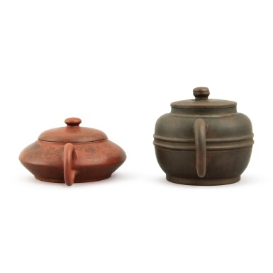 View 3. Thumbnail of Lot 25. A Yixing teapot and cover, Republic period.