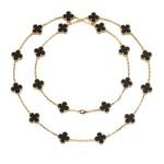Onyx necklace, 'Alhambra'