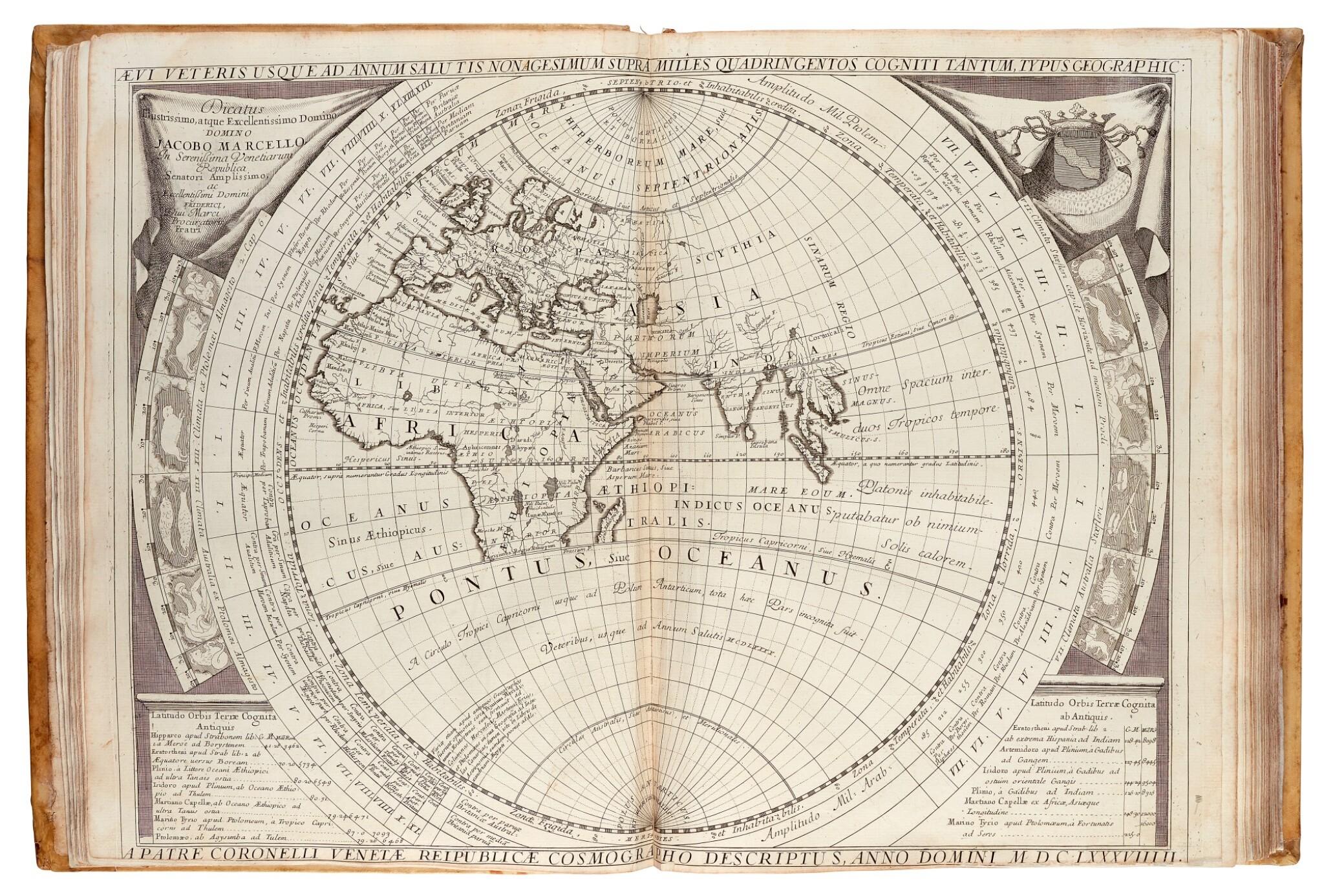 View full screen - View 1 of Lot 21. CORONELLI   Atlante Veneto, 1691.