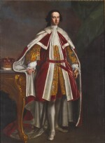 THOMAS BARDWELL | PORTRAIT OF WILLIAM WENTWORTH, 2ND EARL OF STRAFFORD (1722-1791), IN PEER'S ROBES, HIS RIGHT HAND RESTING ON A TABLE BEARING AN EARL'S CORONET