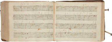 View 4. Thumbnail of Lot 64. Lute. Highly important early seventeenth-century manuscript of Italian and French lute music in French tablature, c.1620.