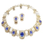 Boucheron | Rock crystal, sapphire and diamond demi-parure | 寶詩龍 | 白水晶配藍寶石及鑽石首飾套裝