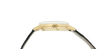 View 4. Thumbnail of Lot 230. Reference 3444  A yellow gold automatic wristwatch, Circa 1961 .