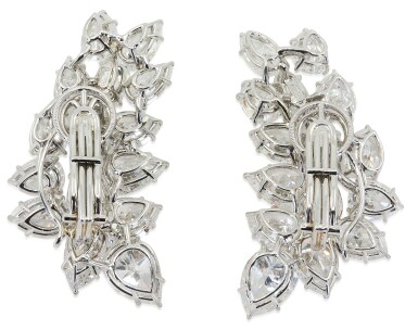 View 3. Thumbnail of Lot 56. HARRY WINSTON | PAIR OF DIAMOND EARCLIPS.
