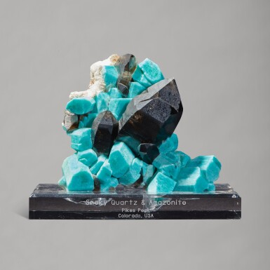 View 1. Thumbnail of Lot 213. An Important Smoky Quartz with Amazonite.