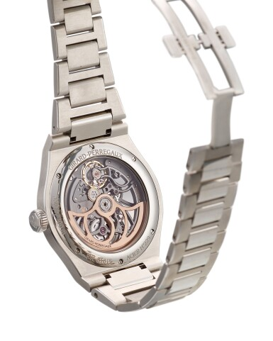 View 3. Thumbnail of Lot 2008. GIRARD-PERREGAUX  |  LAUREATO, REFERENCE 81015-11-001-11A  A STAINLESS STEEL SKELETONISED BRACELET WRISTWATCH, CIRCA 2017 | 芝柏 | .