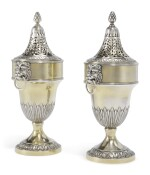 A PAIR OF DUTCH SILVER-GILT POTPOURRI VASES, ADRIANUS WEGMAN, THE HAGUE, 1812-14