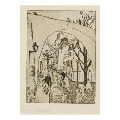 View 1. Thumbnail of Lot 104. LYONEL FEININGER   DIE GRÜNE BRÜCKE (THE GREEN BRIDGE) (PRASSE E22).