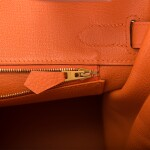 Hermès Orange H Birkin 30cm of Togo Leather with Gold Hardware