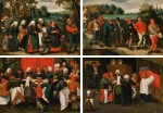 MARTEN VAN CLEVE THE ELDER | The Procession of the Bride; The Procession of the Groom; The Wedding Feast; The Blessing of the Marriage Bed | 老馬騰・凡・克萊費  | 《新娘隊伍》;《新郎隊伍》;《婚宴》;《婚床祝福》