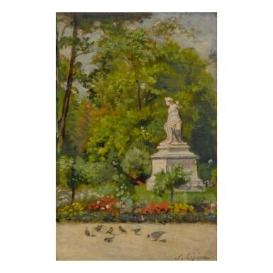 STANISLAS LÉPINE | AU JARDIN DU LUXEMBOURG AND LES QUAIS DE SEINE À PARIS - ÉTUDE: A DOUBLE-SIDED WORK