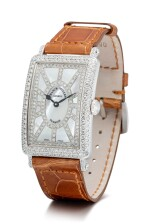 FRANCK MULLER | LONG ISLAND, REFERENCE 952 QZ SNR D CD, A WHITE GOLD AND DIAMOND-SET WRISTWATCH WITH MOTHER-OF-PEARL DIAL, CIRCA 2018