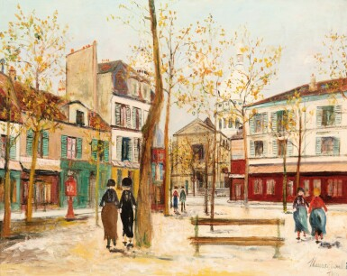 View 1. Thumbnail of Lot 49. MAURICE UTRILLO | PLACE DU TERTRE À MONTMARTRE     .