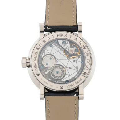 View 4. Thumbnail of Lot 407. GRAFFSTAR, REF GS45W LIMITED EDITION WHITE GOLD WRISTWATCH WITH DATE AND POWER RESERVE INDICATION CIRCA 2012.