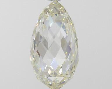 A 2.87 Carat Briolette Diamond, U-V Color, VS1 Clarity