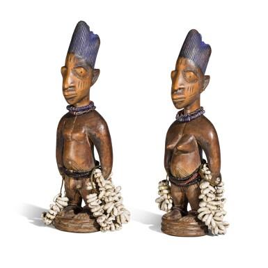 View 3. Thumbnail of Lot 150. Nigeria, Yoruba Peoples | Ere Ibeji Figures.