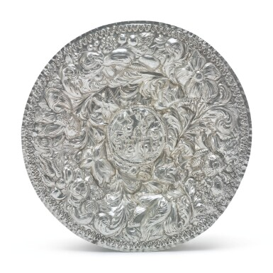 A NORWEGIAN SILVER DISH, MAKER'S MARK AB IN MONOGRAM FOR ADRIAN BOGARTH OF TRONDHEIM, DATED 1703