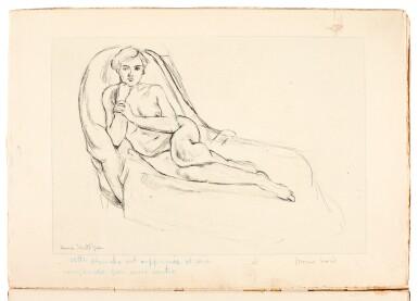 View 1. Thumbnail of Lot 136. Matisse, Cinquante dessins, Paris, 1920, 2 copies, original wrappers, one copy inscribed to Jacquemin.