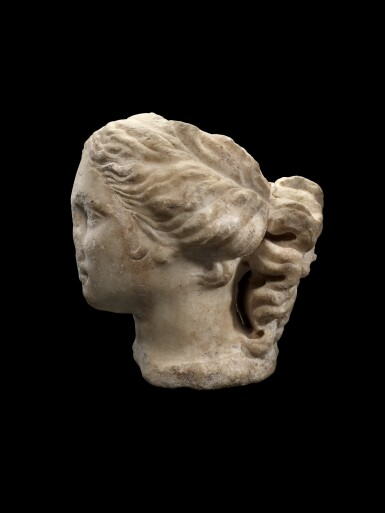 View 2. Thumbnail of Lot 40. A Roman Marble Head of Aphrodite or a Muse, circa 1st Century A.D..