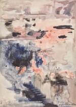 NATALIA SERGEEVNA GONCHAROVA | Composition in Pink and Blue