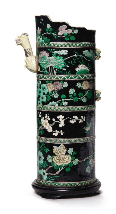 View 2. Thumbnail of Lot 1036. A FAMILLE-NOIRE TIBETAN-STYLE EWER (DUOMUHU), QING DYNASTY, 19TH CENTURY.