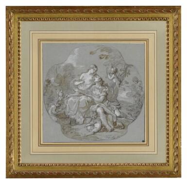View 2. Thumbnail of Lot 1. CHARLES-JOSEPH NATOIRE | RINALDO AND ARMIDA.