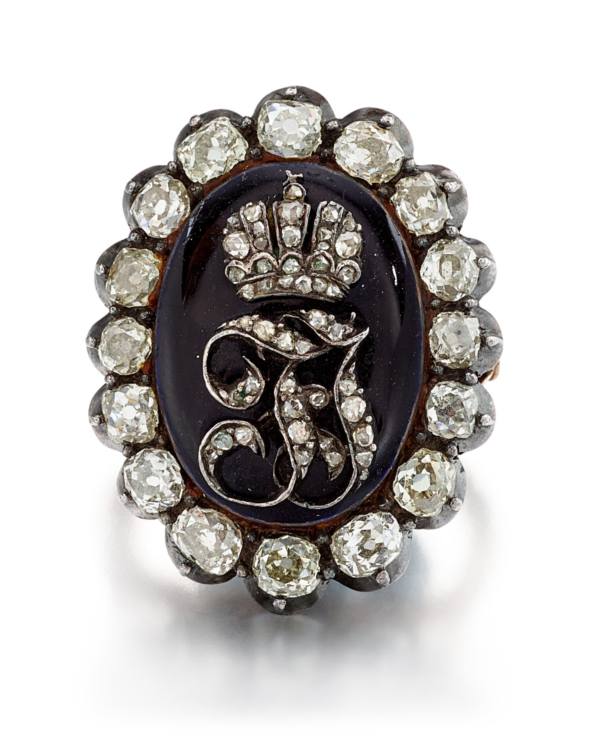 View full screen - View 1 of Lot 9007. Diamond and Enamel Ring, Late 19th Century | 鑽石 配 琺瑯彩 戒指,19世紀末.