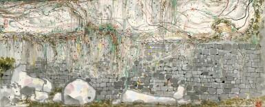View 1. Thumbnail of Lot 2622. Wu Guanzhong 吳冠中 | Climbing Vines on Wall 牆上春色.