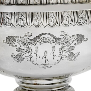 View 3. Thumbnail of Lot 80. A George III silver soup tureen and stand, Robert Sharp, London, 1801.