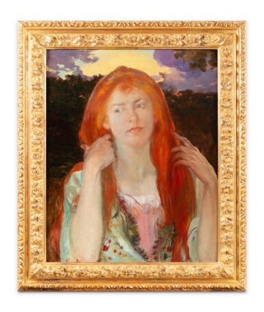 View 2. Thumbnail of Lot 222. Portrait of a red-haired woman, Ophelia .