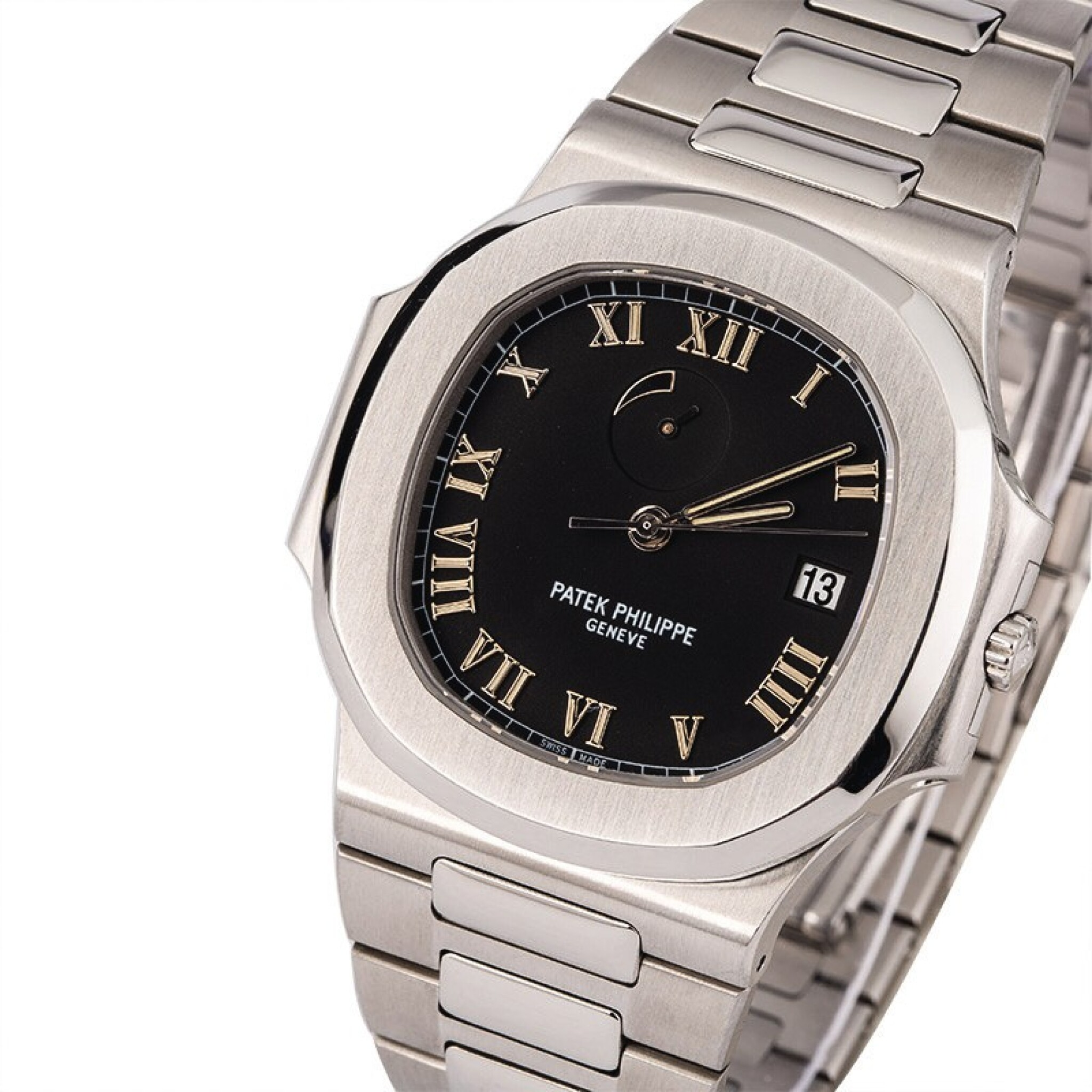 View 1 of Lot 17. PATEK PHILIPPE | Nautilus, Ref. 3710/1A, A Stainless Steel Wristwatch with Integrated Bracelet and Power Reserve Indicator, Circa early 2000s.