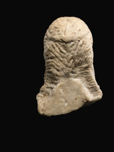 View 5. Thumbnail of Lot 25. A ROMAN MARBLE ARCHAISTIC HERM HEAD OF DIONYSOS, CIRCA 2ND CENTURY A.D..