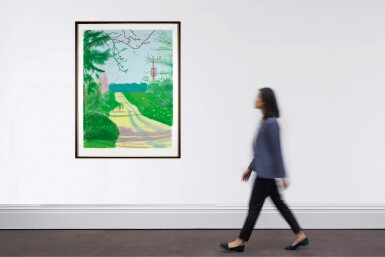 View 4. Thumbnail of Lot 57. DAVID HOCKNEY | THE ARRIVAL OF SPRING IN WOLDGATE, EAST YORKSHIRE IN 2011 - 23 APRIL 2011.