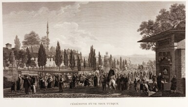 View 4. Thumbnail of Lot 79. Melling. Voyage pittoresque de Constantinople. 1819. 2 volumes. folio. plates edge-bound. The Atabey copy.