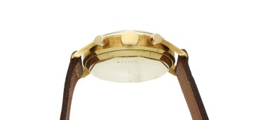 View 4. Thumbnail of Lot 101. A yellow gold chronograph wristwatch, Circa 1955 .