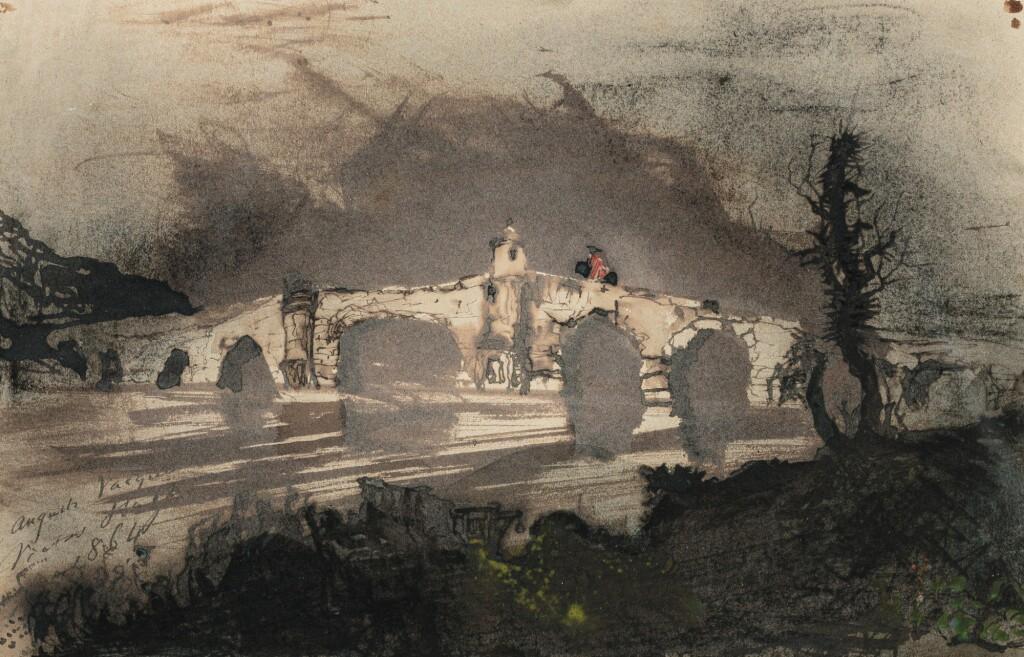 VICTOR-MARIE HUGO | A BRIDGE IN SPAIN, ALSO CALLED THE MOORISH BRIDGE