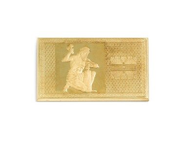 View 1. Thumbnail of Lot 181. Gold plate [Plaque en or], 1975.