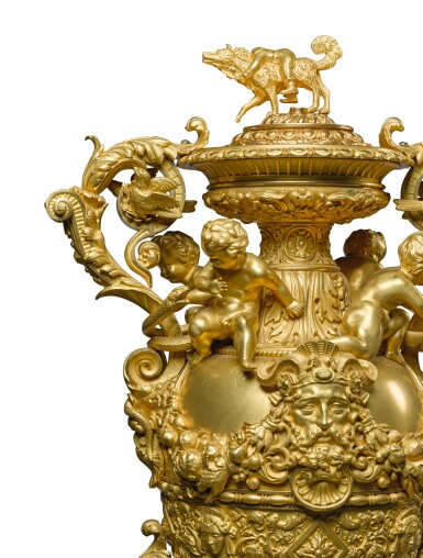 View 5. Thumbnail of Lot 160. A LOUIS-PHILIPPE GILT-BRONZE MOUNTED COVERED VASE, CIRCA 1840, BY THOMIRE & CIE.