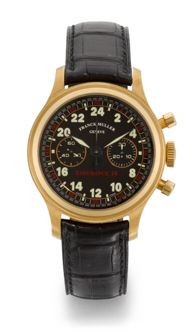 FRANCK MULLER | ENDURANCE 24, REFERENCE 96.01, LIMITED EDITION PINK GOLD CHRONOGRAPH WRISTWATCH, CIRCA 1999