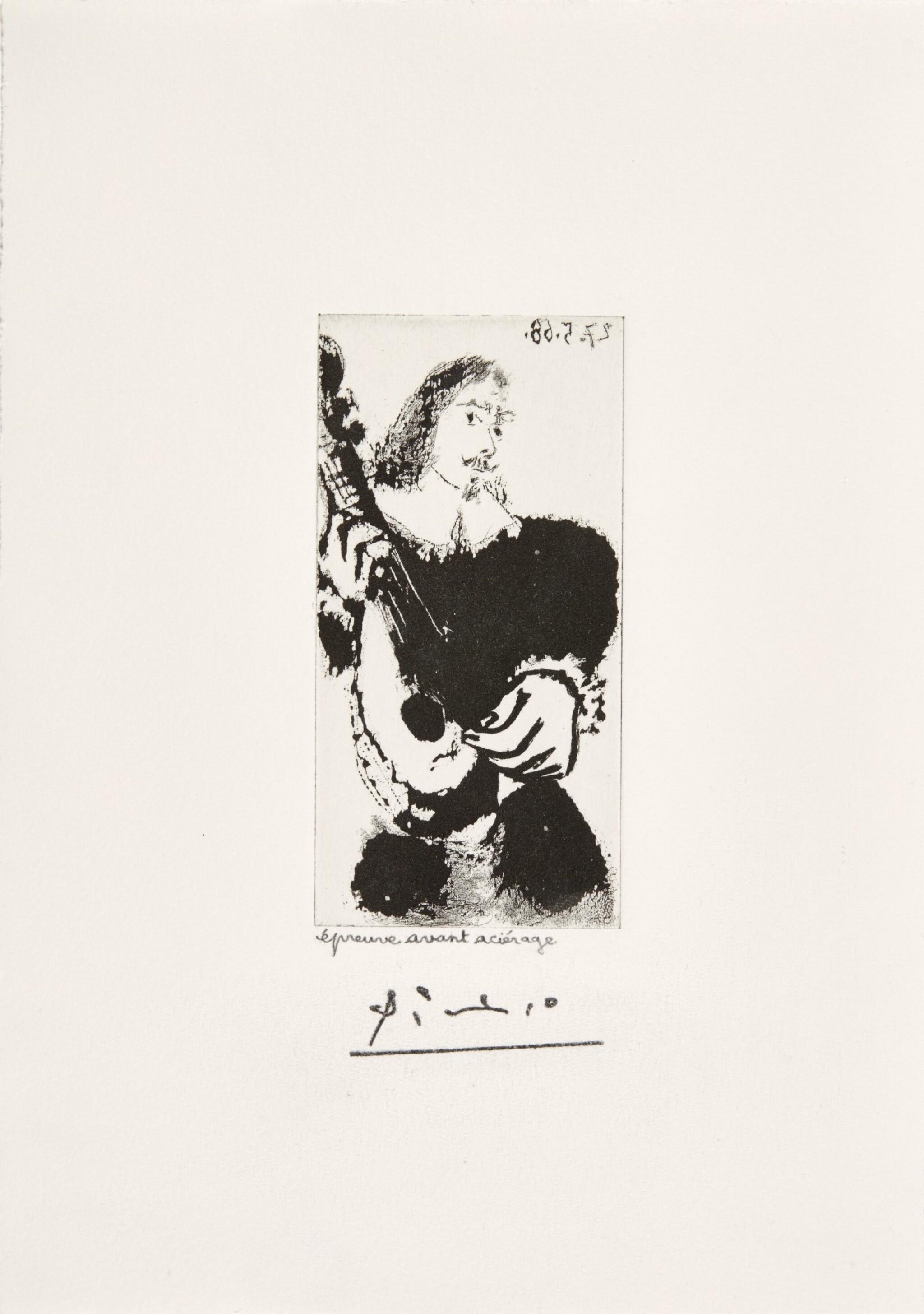 PABLO PICASSO | LA CÉLESTINE: LA SÉRÉNADE (B. 1599; BA. 1615)