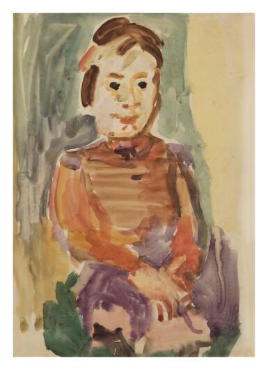View 1. Thumbnail of Lot 20. OSKAR KOKOSCHKA   MAEDCHEN BILDNIS (PORTRAIT OF A GIRL).