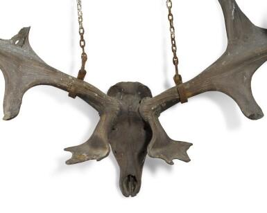 View 4. Thumbnail of Lot 1. A pair of fossilised 'Irish elk' antlers, Prehistoric.