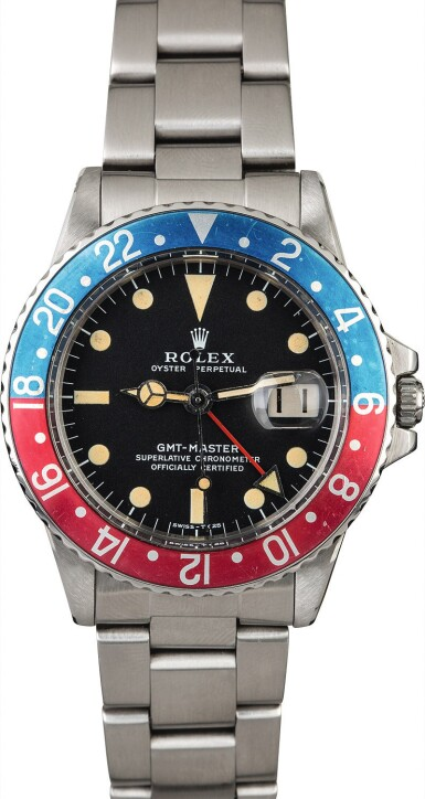 View 2. Thumbnail of Lot 9. ROLEX | GMT-Master, Ref. 1675, A Stainless Steel Wristwatch with Bracelet Circa 1972.