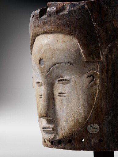 View 3. Thumbnail of Lot 43. Masque heaume Janus, Fang, Gabon | Helmet Janus mask, Fang, Gabon.