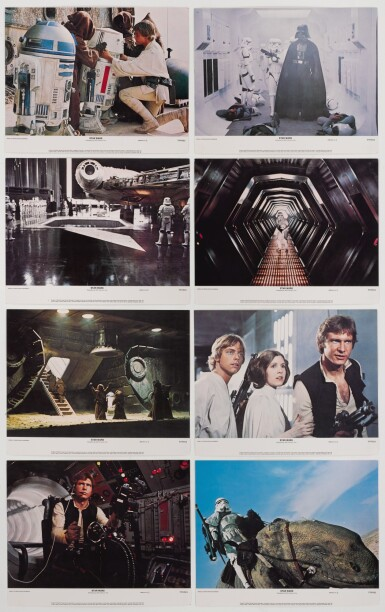 STAR WARS, SET OF 8 LOBBY CARDS, US SECOND PRINTING, 1978