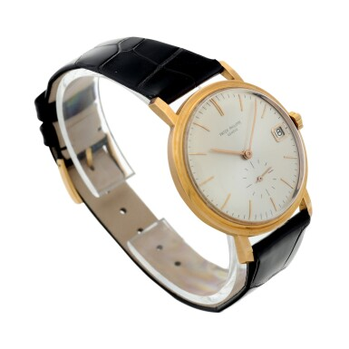 View 3. Thumbnail of Lot 24. REFERENCE 3445 A PINK GOLD AUTOMATIC WRISTWATCH WITH DATE, MADE IN 1963.