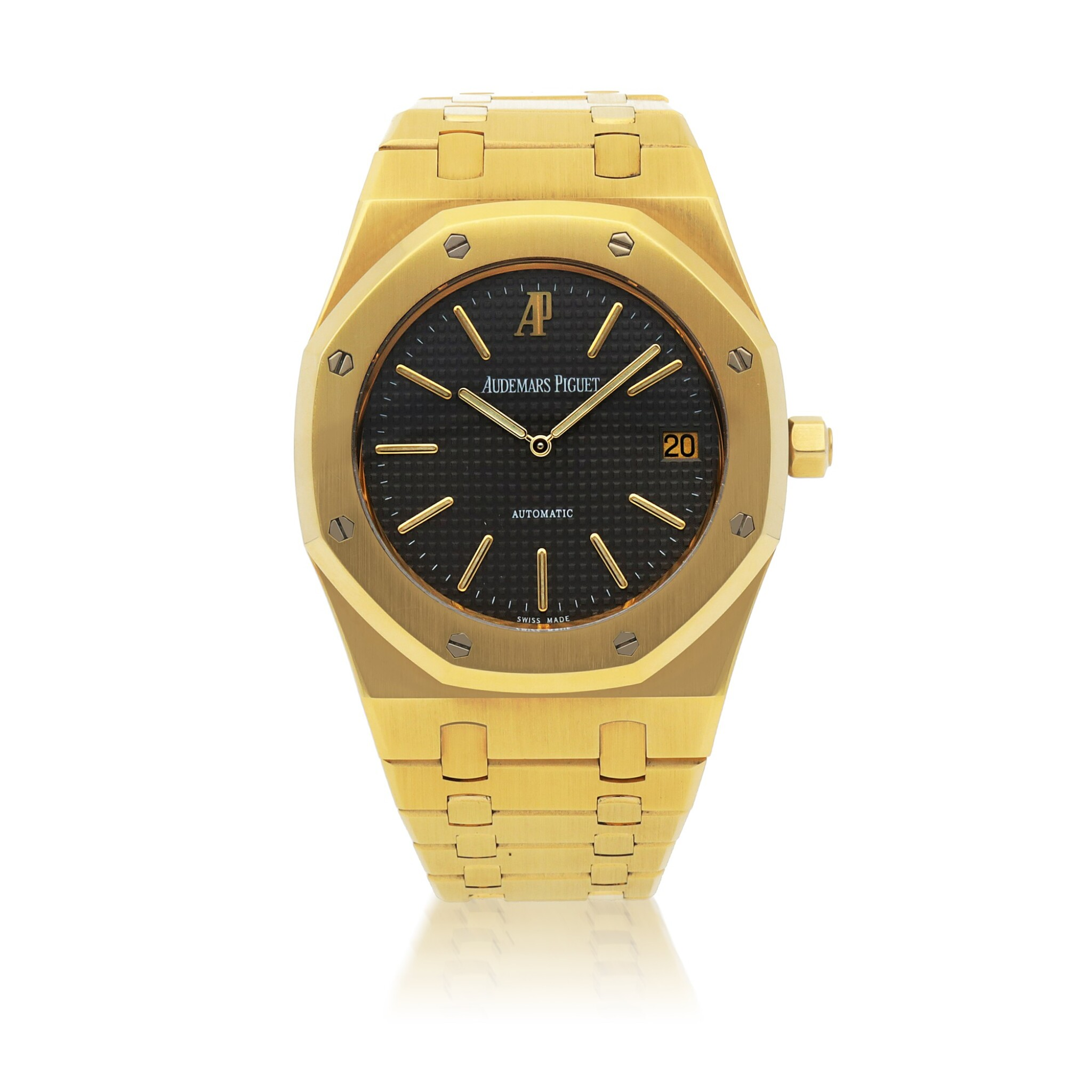 View full screen - View 1 of Lot 375. ROYAL OAK JUBILEE, REF 14802BA.OO.0944BA.01 LIMITED EDITION YELLOW GOLD WRISTWATCH WITH DATE AND BRACELET CIRCA 1992.