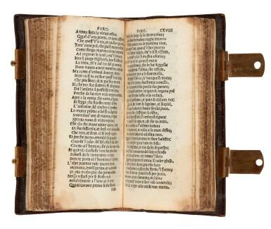 View 3. Thumbnail of Lot 101. Dante col sito, et forma dell'Inferno, [Venice, Paganino, c. 1516], miniature edition.