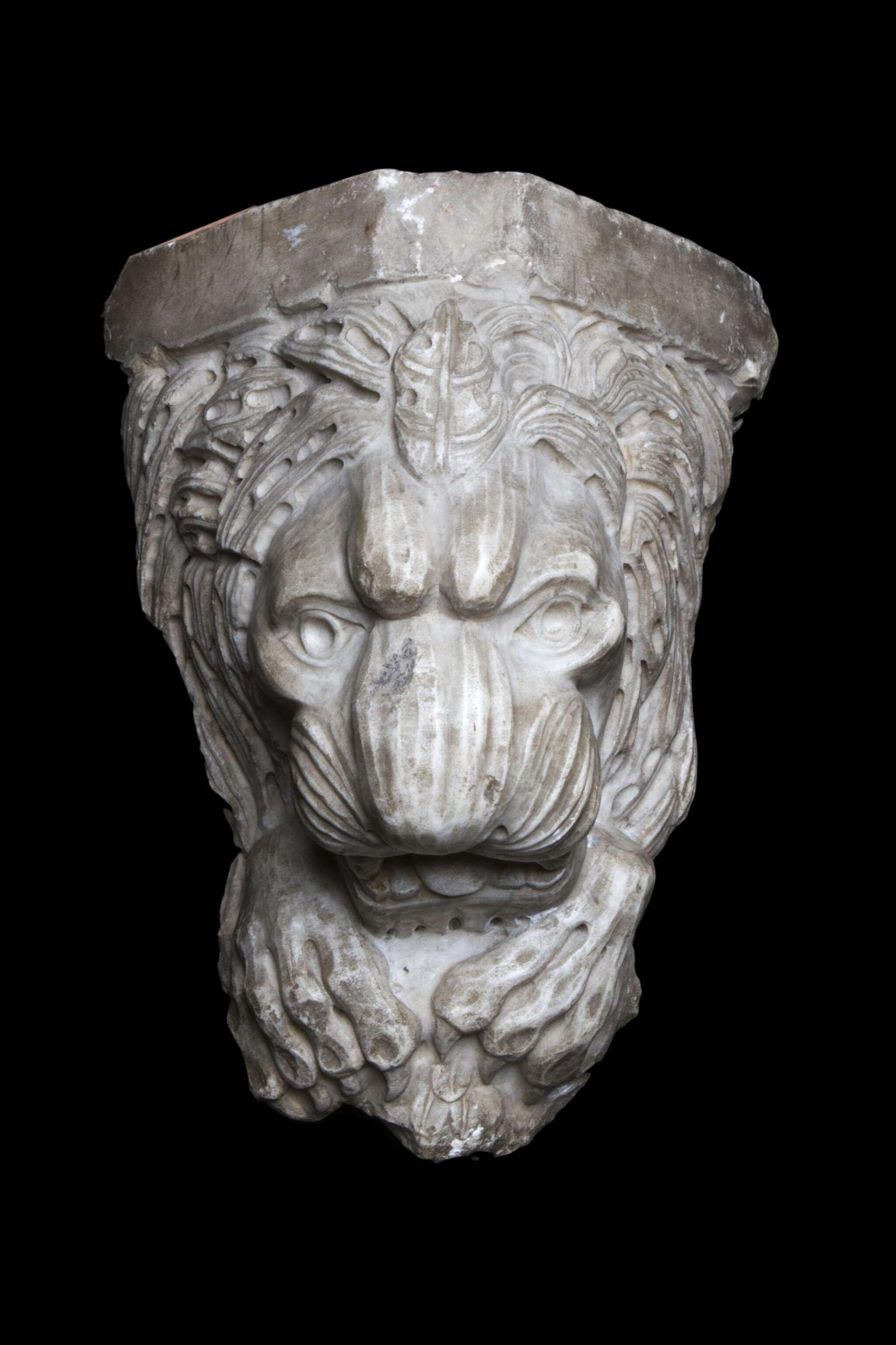 View full screen - View 1 of Lot 133. South Italian, probably 14th/ 15th century | Corbel with a lion.