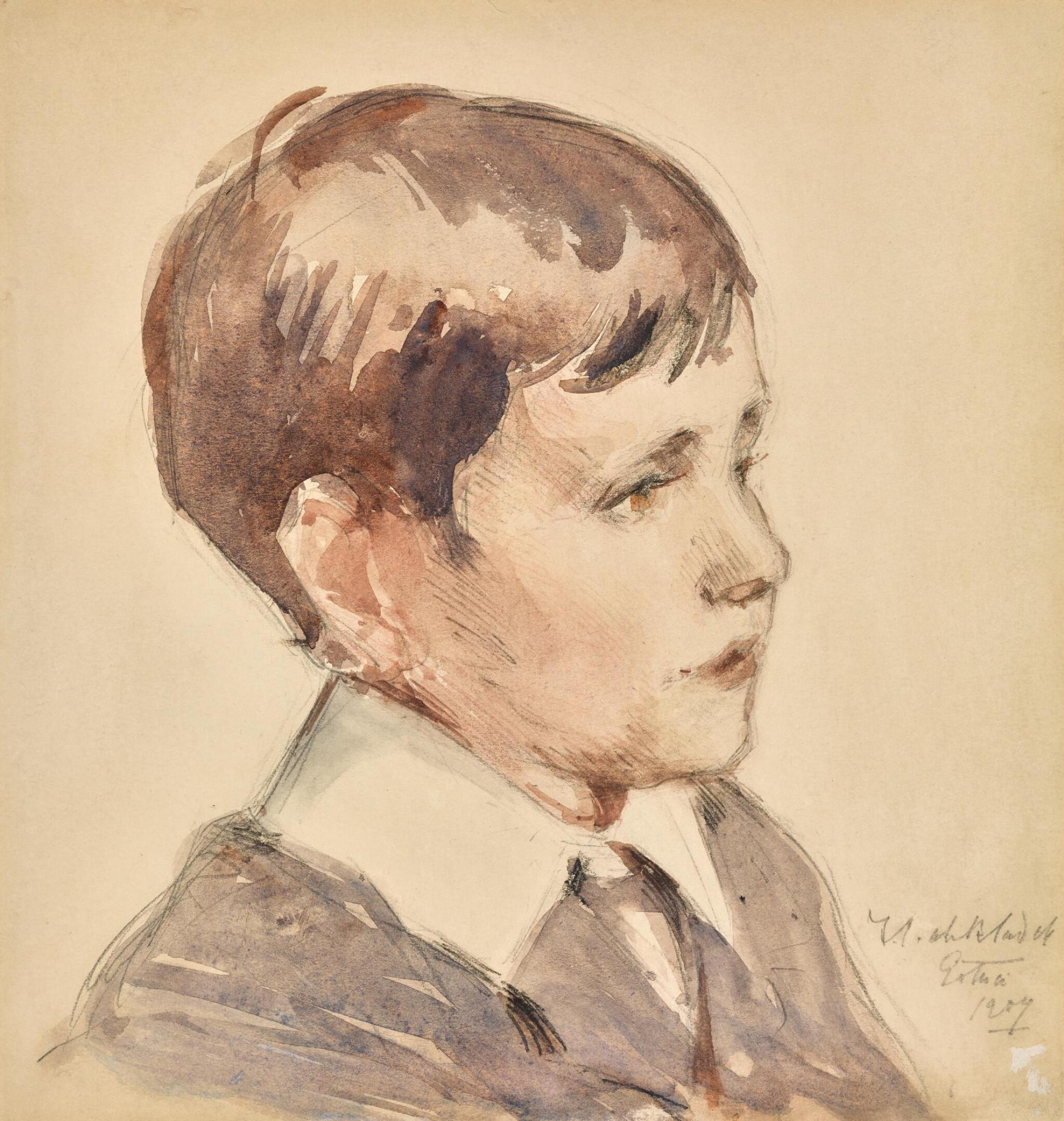 View full screen - View 1 of Lot 36. FRANCIS CAMPBELL BOILEAU CADELL, R.S.A., R.S.W. | HEAD OF A BOY.